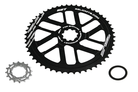 Relic 52T MTB Sprocket Kit for Shimano 11 Spd - 11-42T / 46T Cassette -Black