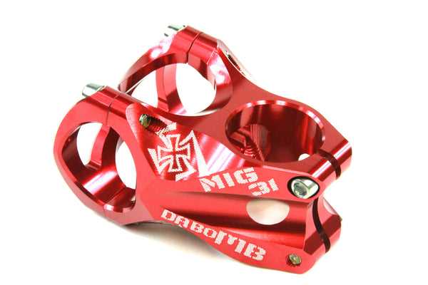 DaBomb MIG31 Stem Forged Aluminum 31.8mm Clamp Dia. - Ext. 45mm - Red