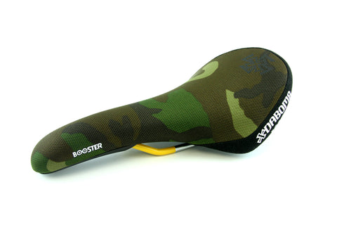 Dabomb MTB Saddle - Booster - Raised Rear Portion - 7mm CrMo Rail - Camo