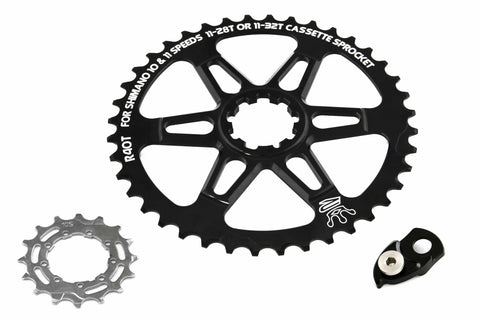 Relic R40T Road Bike Sprocket Kit for Shimano 10 Spd / 11 Spd - 11-28T / 11-32T