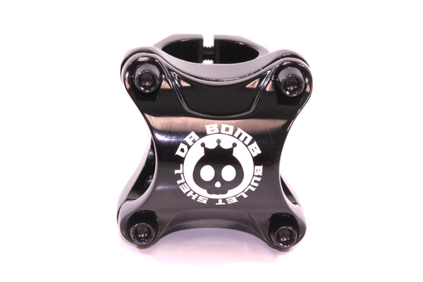 DaBomb Bullet Shell Stem Forged Aluminum 31.8mm Clamp Dia. - Ext. 35mm - Black