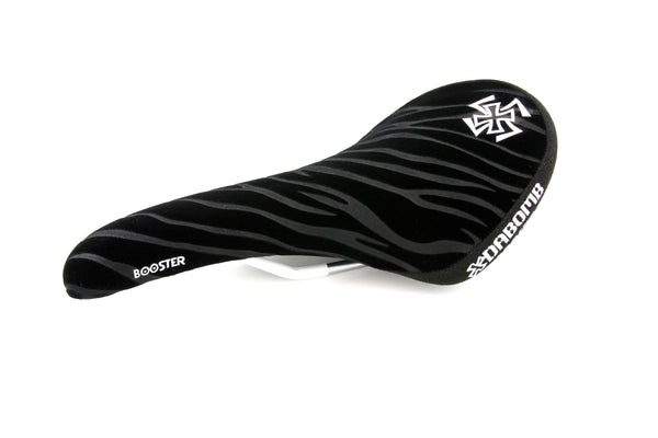 Dabomb MTB Saddle - Booster - Raised Rear Portion - 7mm CrMo Rail - Streak