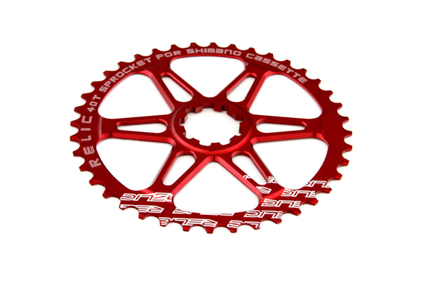 Relic 40T MTB Sprocket Kit for Shimano 10 Spd - 11-34T Cassette - Red