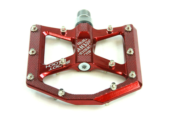 DaBomb SHOOT BLOCK MTB Pedal Set - Gloss Red
