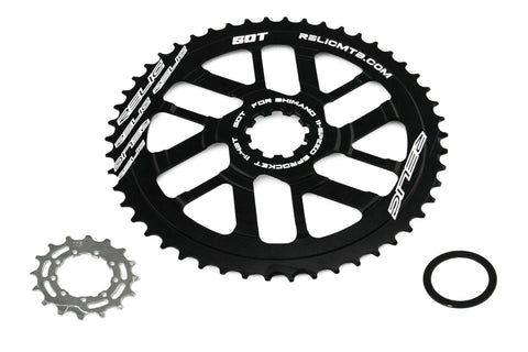 Relic 50T MTB Sprocket Kit for Shimano 11 Spd - 11-40T / 42T Cassette - Black