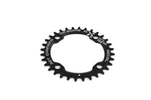 DaBomb X-Ring 32T Chain Ring Narrow-Wide Designed for 104 BCD Cranks - Black