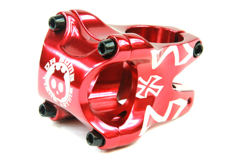 DaBomb Bullet Shell Stem Forged Aluminum 31.8mm Clamp Dia. - Ext. 35mm - Red