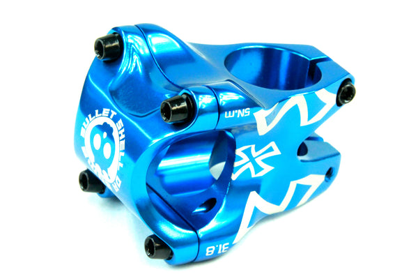 DaBomb Bullet Shell Stem Forged Aluminum 31.8mm Clamp Dia. - Ext. 35mm - Blue