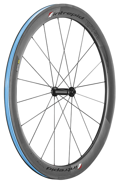 Intrepid Handcrafted Carbon Fiber Road Bike Wheelset 700c 50mm Depth Rim Brake