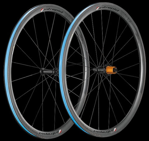 Intrepid Handcrafted Carbon Fiber Road Bike Wheelset 700c 35mm Depth Rim Brake