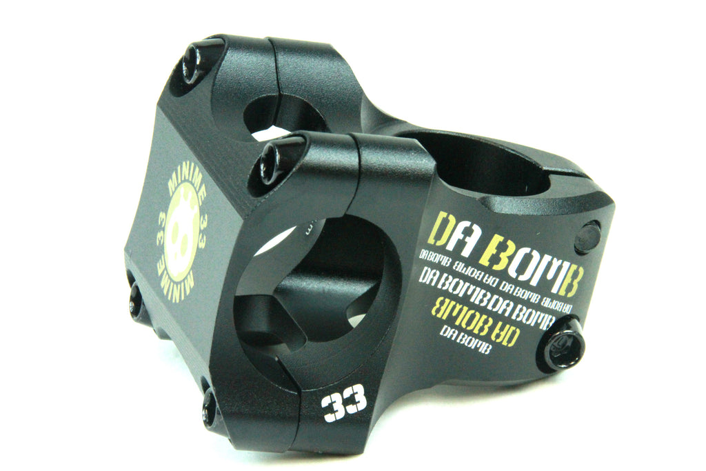 DaBomb Minime33 Stem Forged Aluminum 31.8mm Clamp Dia. - Ext. 33mm - Bk/Gold
