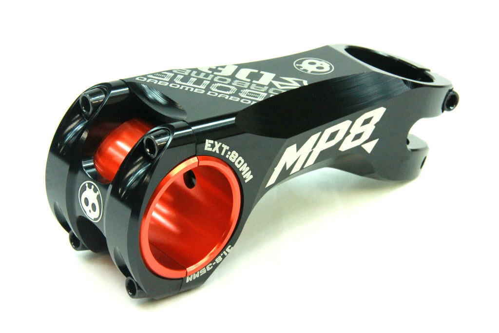 DaBomb MP8 Stem Forged Aluminum - 31.8mm / 35mm Clamp Dia. - Ext. 80mm - Black