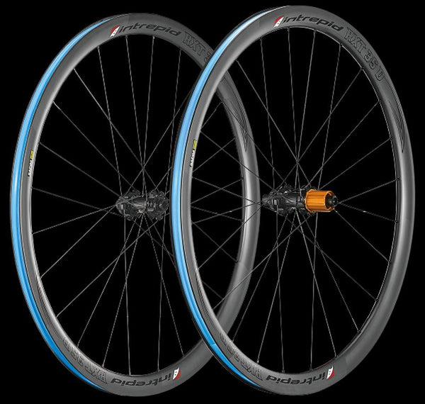 Intrepid Handcrafted Carbon Fiber Road Bike Wheelset 700c 35mm Depth Disc Brake