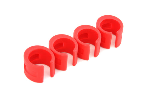 DaBomb ChainStay Proctector Ring - Pack of 4 Rings - Red