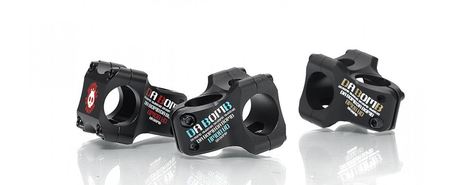 DaBomb Minime33 Stem Forged Aluminum 31.8mm Clamp Dia. - Ext. 33mm - Bk/Blue