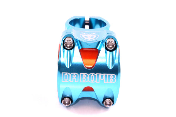 DaBomb KING Stem Forged Aluminum 31.8mm / 35mm Clamp Dia. - Ext. 50mm - Blue