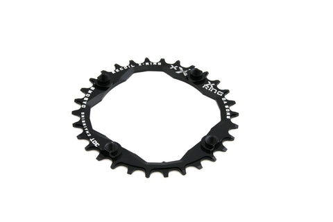 DaBomb X-Ring 30T Chain Ring Narrow-Wide Designed for 104 BCD Cranks - Black