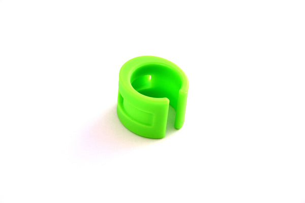 DaBomb ChainStay Proctector Ring - Pack of 4 Rings - Neon Green