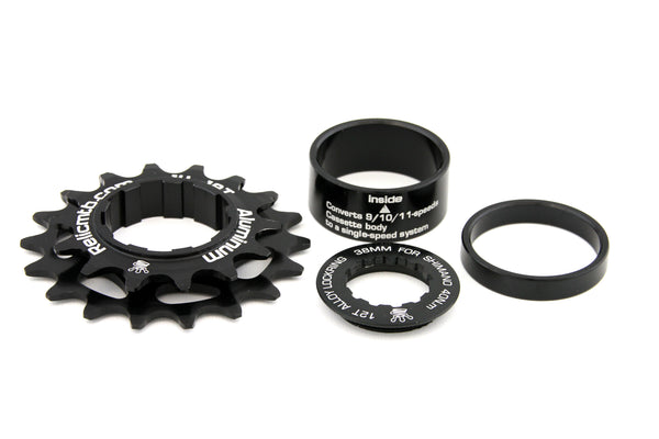 Relic Single Speed Conversion Kit 14T / 18T for Shimano 9, 10, 11 Speed - Black