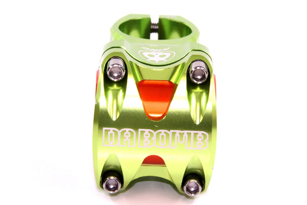 DaBomb KING Stem Forged Aluminum 31.8mm / 35mm Clamp Dia. - Ext. 50mm - Green