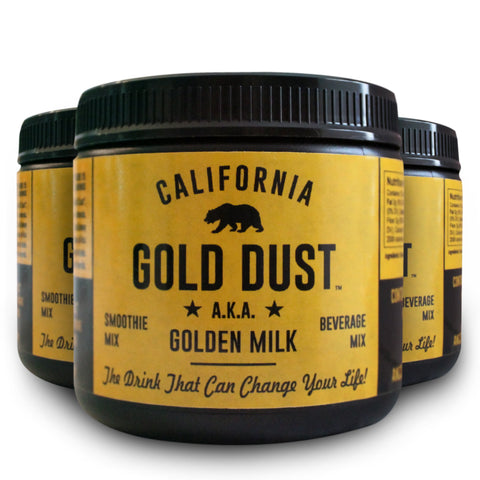 "3 Jar Super Saver FREE SHIPPING-California Gold Dust ""Golden Milk"" Organic Turmeric Smoothie and Nutraccino Mix"