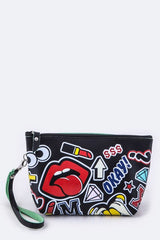 Iconic Fashion Printed Pouch/Cosmetic Clutch bag