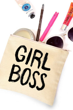 Girl Boss Canvas Cosmetic Bag