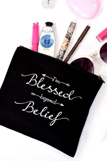 Blessed Beyond Belief Cosmetic Bag