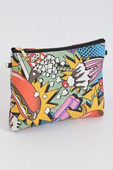 Food Junkie Inspired Clutch/ Cosmetic Bag