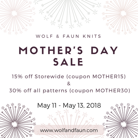 Wolf & Faun's Annual Mother's Day Sale