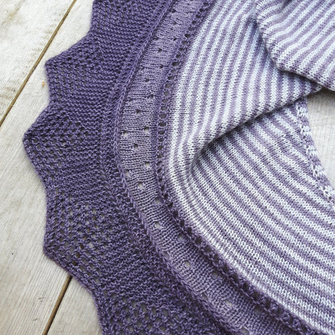 An Intro to the Clary Sage Shawl by Nat Raedwulf, Wolf & Faun Knits