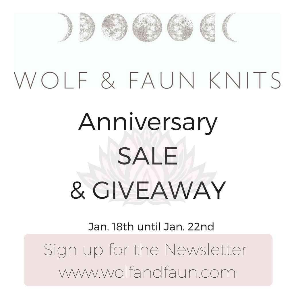 Wolf & Faun Celebrates it's 1 Year Anniversary! - Sales and Giveaways to Celebrate!
