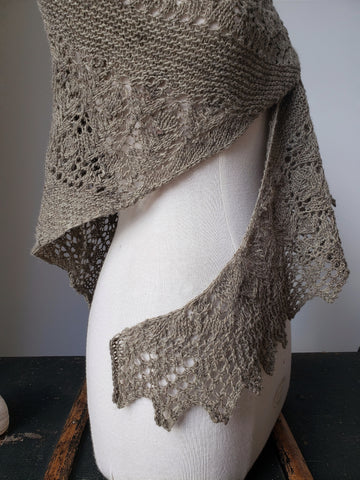 Milk Thistle Shawl Knit Pattern