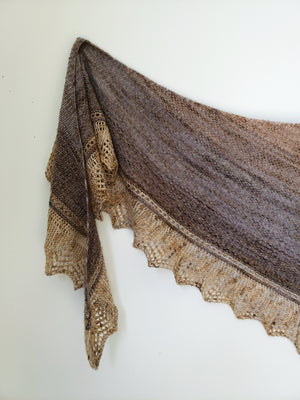 Faded Linen Shawl Knit Pattern