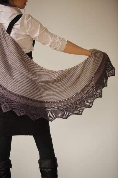 Clary Sage Shawl Knit Pattern