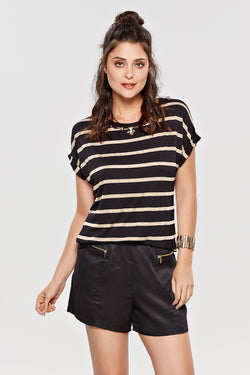 Blusa Gold Stripe - Modisch