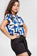 Blusa Cropped com Decote Costas - Modisch