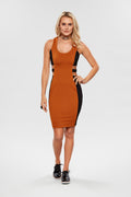 Vestido Bodycon Slim Bicolor - Modisch