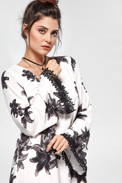 Tunic Dress Flower Print - Modisch