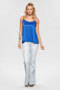 Blusa Cami Top Satin - Modisch