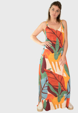 Vestido Longo Colorful Kraft - Modisch
