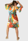 Vestido Babado Colorful Kraft - Modisch