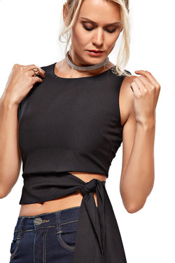 Top Cropped Cotton Laço - Modisch