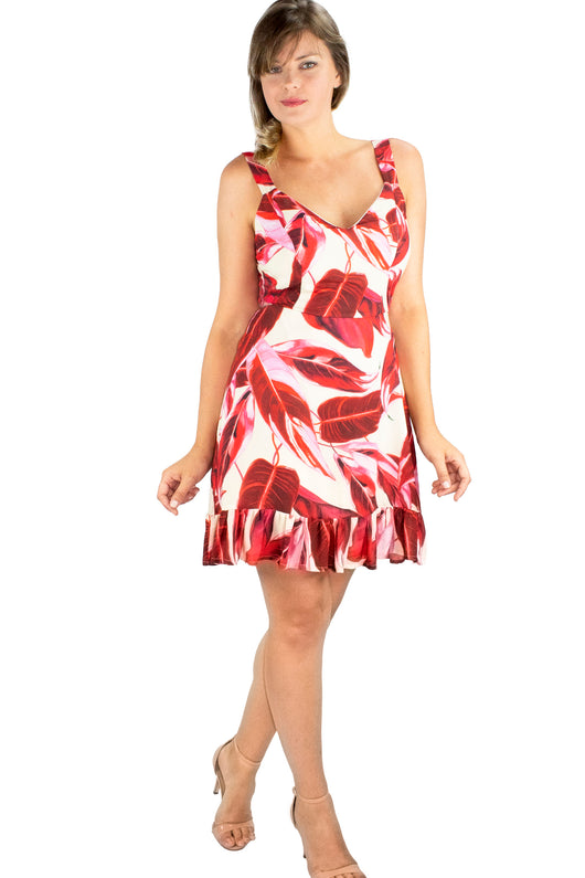 Vestido Frilly Dress Pink&Red - Modisch