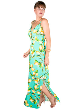 Vestido Fenda Lemon Print - Modisch