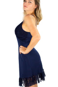 Vestido Slip Dress Renda Blue - Modisch