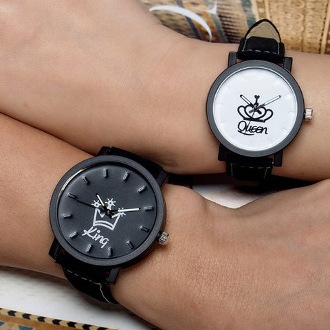 queen and king watch
