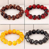 Stained Glass Buddha Beads Bracelet, Bracelet, Brisk Buddha Inc., PetFut