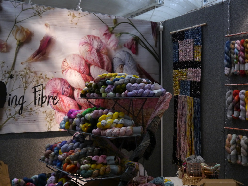 Video: Behind the scenes with Qing Fibre at the Knitting & Stitching Show London 2019