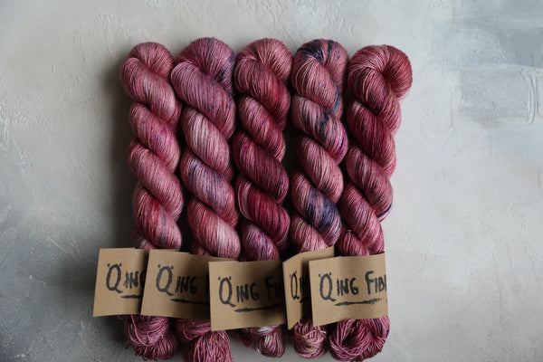 Qing Fibre Silk Singles - Antique Rose